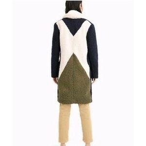 J Crew Colorblock Shearing Coat